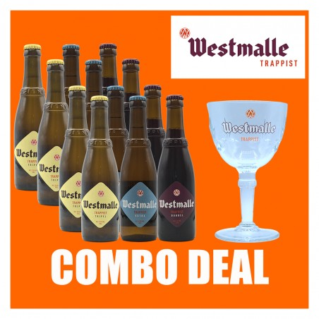 Westmalle 12- pack+ Glass - 1